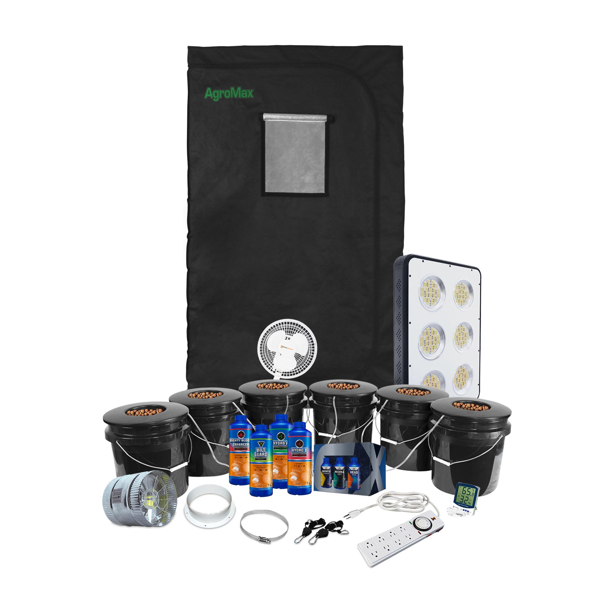 HTG 4x4 Hydroponic LED Grow Tent Kit